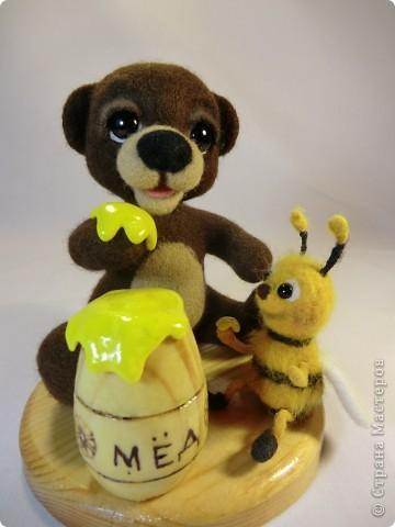 Мишка Топтышка, мед и Пчёлка фото 1