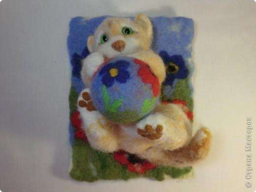 Коврик и мячик для котёнка фото 5