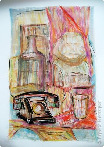 """""""Ночная дорога"""" Видела давно работу на этом сайте, очень понравилось как нарисовано, решила повторить) Жаль, оригинала не сохранилось. фото 3"""