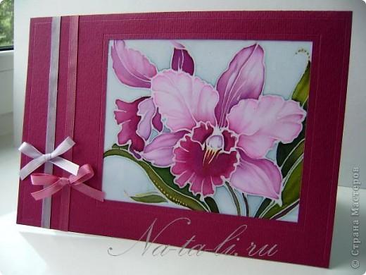 Доброго всем времени суток. Очень вам рада! Сегодня хочу показать открыточки с маленьким кусочком батика, пристроила пробнички и пару нарисовала специально- для серии так сказать.   фото 7