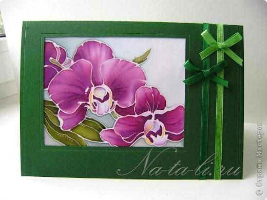 Доброго всем времени суток. Очень вам рада! Сегодня хочу показать открыточки с маленьким кусочком батика, пристроила пробнички и пару нарисовала специально- для серии так сказать.   фото 3
