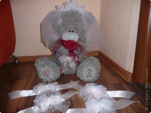 Свадебный медведь и корсаж на руку подружкам невесты... фото 1