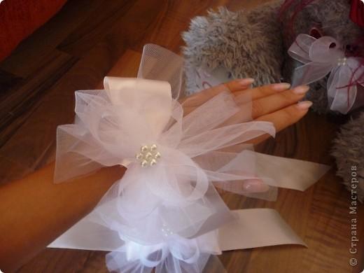 Свадебный медведь и корсаж на руку подружкам невесты... фото 3