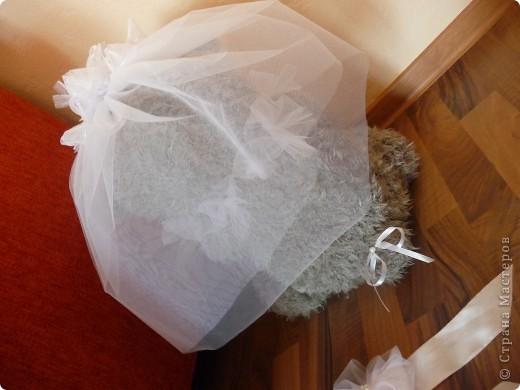 Свадебный медведь и корсаж на руку подружкам невесты... фото 6
