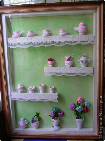 Посуда на полочке. фото 1