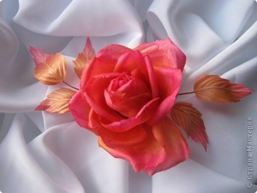 """Шелковая роза """"Чайная"""" фото 1"""