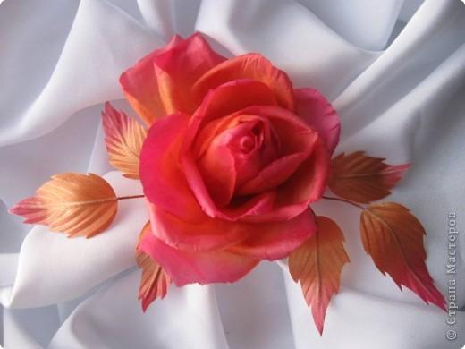 """Шелковая роза """"Чайная"""" фото 2"""