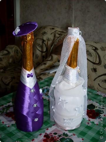 Вдохновившись работой kozzoya, сделала вот такой подарок на свадьбу дочери друзей. Очень понравилось заниматься нарядами жениха и невесты :-)