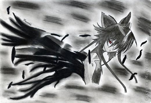 """""""Ночная дорога"""" Видела давно работу на этом сайте, очень понравилось как нарисовано, решила повторить) Жаль, оригинала не сохранилось. фото 2"""