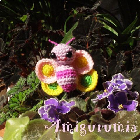 Амигуруми бабочка