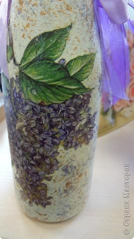 Пробы декорирования бутылок фото 5