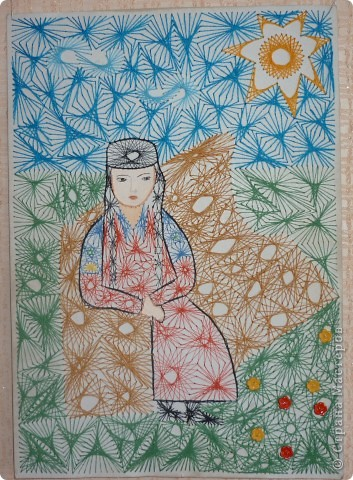 Девушка хакасской национальности.