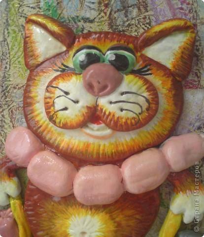 Вот такой получился у меня котик. Спасибо Марине Архиповой за её МК http://stranamasterov.ru/node/86529 фото 2