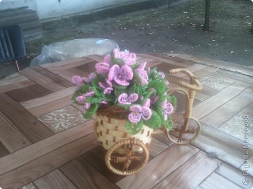 Цветы из бисера. фото 1