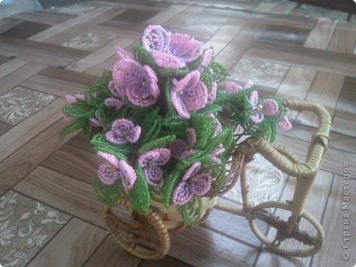 Цветы из бисера. фото 2
