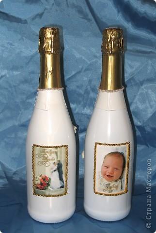 Бутылочки свадебные фото 3