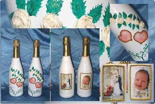 Бутылочки свадебные фото 1