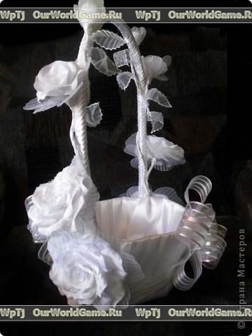 Мастер класс свадебная корзинка своими руками. фото 2