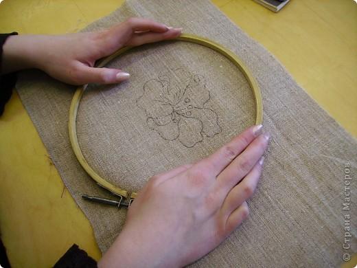 Вышивка ковровая Техника