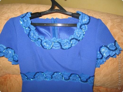 Сшили мне в ателье вот такое платье из подаренного отреза ткани. Ходила летом очень удобно по фигурке. фото 3