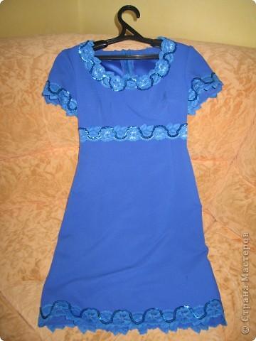 Сшили мне в ателье вот такое платье из подаренного отреза ткани. Ходила летом очень удобно по фигурке. фото 2