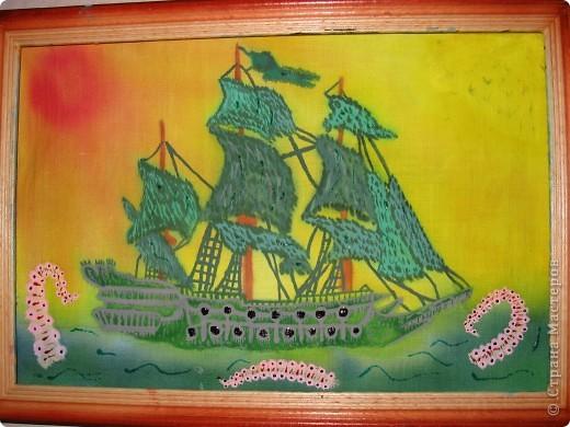"""Летучий голландец с Кракеном из фильма """"Пираты Карибского моря"""""""