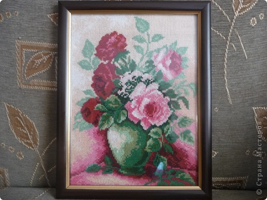 вышивка крестом цветы фото 2