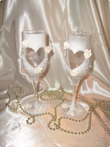 Свадебные бокалы 1 фото 1