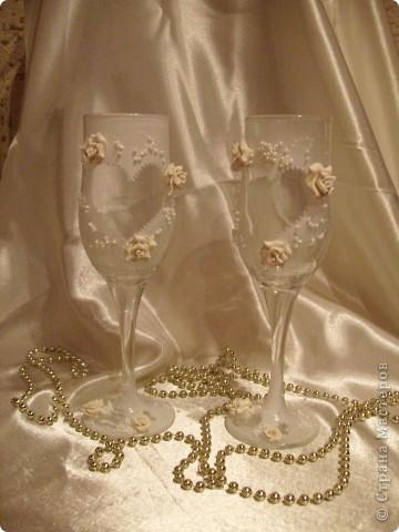 Свадебные бокалы 1 фото 2