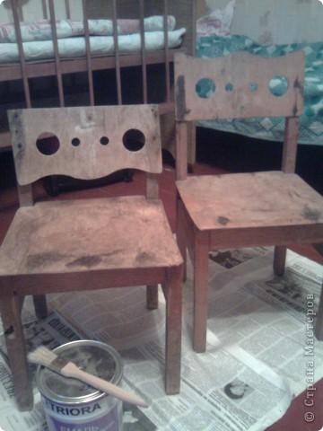 Были старые этажерка и стульчики , а стали... фото 2