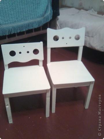 Были старые этажерка и стульчики , а стали... фото 5