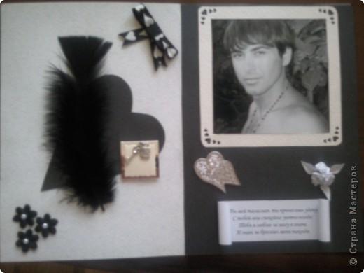 Очень понравились на сайте идеи черно-белых открыток. Первую сторону, скопировала, с одной открытки с сайта (сорри не помню у кого и спасибо за идею).  фото 2