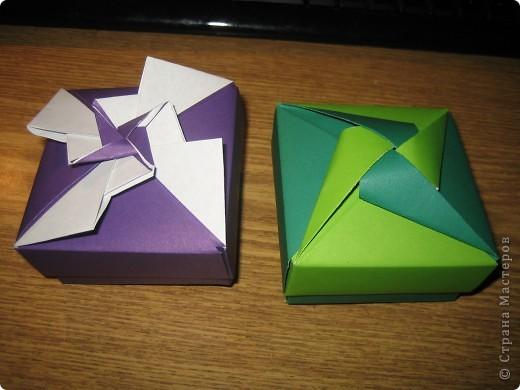 Коробочки оригами фото 6