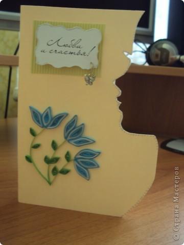 """Моя первая поздравителная открытка """"Нежный букет"""" фото 2"""