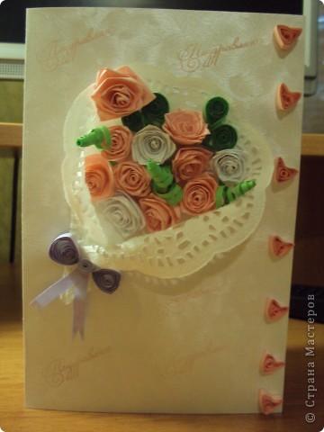 """Моя первая поздравителная открытка """"Нежный букет"""" фото 1"""