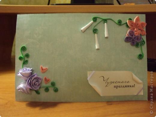 """Моя первая поздравителная открытка """"Нежный букет"""" фото 3"""