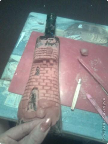 Не помню на каком сайте нашла м.к , захотела повторить. Правда, в оригинале мастер делал домики из керамики.я же из массы застывающей на воздухе. фото 3