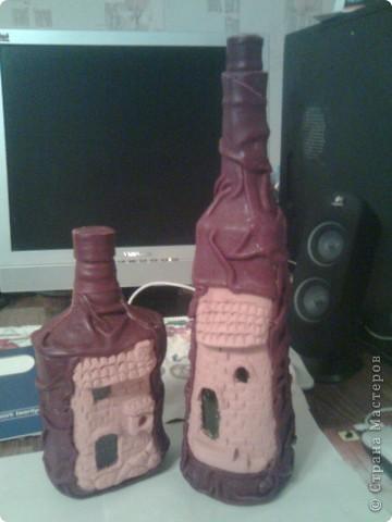 Не помню на каком сайте нашла м.к , захотела повторить. Правда, в оригинале мастер делал домики из керамики.я же из массы застывающей на воздухе. фото 1