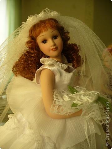 Дама в зеленом. Эту куколку мне выслали из г. Братск. Кукла по формату такая же, как дамы эпохи, только у нее акриловые глазки и реснички.  фото 9