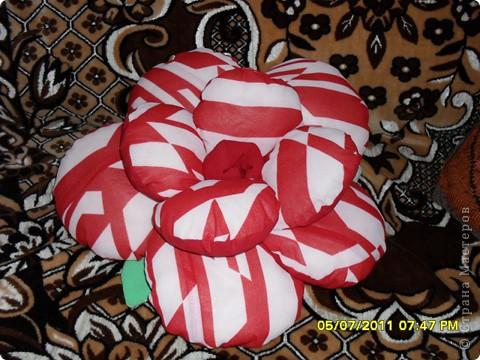 Мечта моя сбылась, я нашла схему в интернете, а дочка сшила мне эту подушку-розу. фото 1