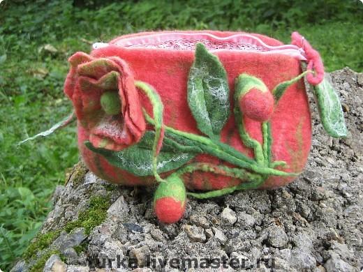 """Косметичка """"В саду розовой мечты"""" фото 2"""