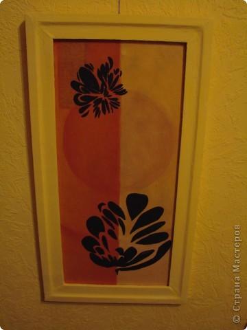 Ура, все готово. Триптих по задумке должен будет разделять визуально комнату. Цвет рам - цвет стен. Может кому то не понравиться идея цета рам в цвет стен, просто по задумке этот триптих должен быть, но особо не выделяться, т.е. как бы растворяться немного на стене. фото 7