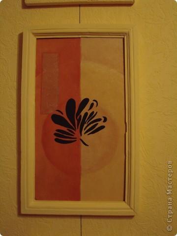 Ура, все готово. Триптих по задумке должен будет разделять визуально комнату. Цвет рам - цвет стен. Может кому то не понравиться идея цета рам в цвет стен, просто по задумке этот триптих должен быть, но особо не выделяться, т.е. как бы растворяться немного на стене. фото 6