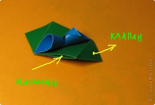 Привет! На днях крутила-крутила бумажку и само собой сложился модуль, похожий по принципу сборки на модули глобиков Т. Фусе. Представляю небольшой МК по сборке таких вот элегантных бантиков. В реале сиреневые бантики на фиолетовом фоне смотрятся намного симпатичнее.  Технические подробности: - 30 фиолетовых модулей, размер: 9,8 х 4,9 см - 30 сиреневых модулей, размер: 9,8 х 4,9 см в диаметре - 11 см  И еще - при сборке  я для прочности немного подклеивала модули. В ЖЖ предложили имя этой кусудаме - Valentine. Пожалуй так и оставим. Автор - Валентина Минаева (Valentina Minayeva) фото 20