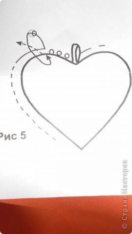 Моё сердечко=) Для этого сердечка понадобится:  Картон, ткань, тесьма, бисер, игла с ниткой)  фото 6