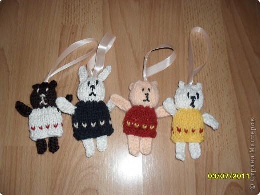 Ёлочные игрушки, связанные спицами фото 1