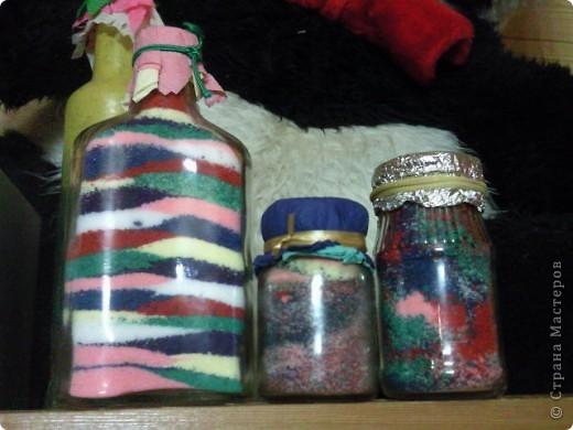 Красивые баночки с крашеной солью делали с сыном) фото 1