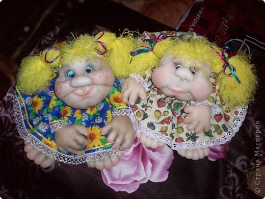 Сшила одну куколку по МК Елены http://stranamasterov.ru/user/40274, и увлеклась.  Вот такая неземная красота у меня родилась, учусь делать разные мордочки, занятие очень увлекательное. Так забавно наблюдать за тем какая мимика прорисовывается, ох, полюбились мне эти шкоды)))) фото 6