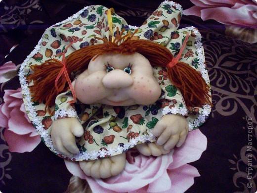 Сшила одну куколку по МК Елены http://stranamasterov.ru/user/40274, и увлеклась.  Вот такая неземная красота у меня родилась, учусь делать разные мордочки, занятие очень увлекательное. Так забавно наблюдать за тем какая мимика прорисовывается, ох, полюбились мне эти шкоды)))) фото 5