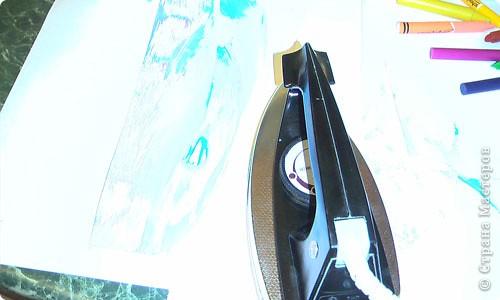 Есть специальный утюжок и цветной воск для энкаустики. Много разных приспособлений и литература. фото 6